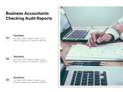 Business Accountants Checking Audit Reports Ppt PowerPoint Presentation Summary Template PDF