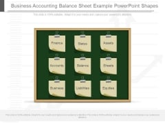 Business Accounting Balance Sheet Example Powerpoint Shapes