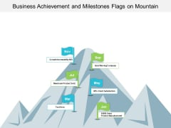 Business Achievement And Milestones Flags On Mountain Ppt PowerPoint Presentation Slides Introduction