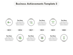 Business Achievements 2015 To 2020 Ppt PowerPoint Presentation Icon Background