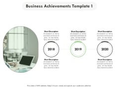 Business Achievements 2018 To 2020 Ppt PowerPoint Presentation Visual Aids Backgrounds