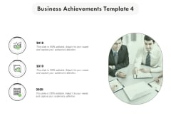 Business Achievements Template 4 Ppt PowerPoint Presentation Layouts Graphics Design