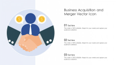Business Acquisition And Merger Vector Icon Ppt PowerPoint Presentation File Example Introduction PDF