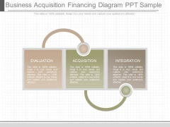 Business Acquisition Financing Diagram Ppt Sample