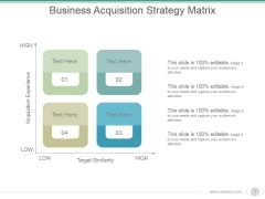 Business Acquisition Strategy Matrix Ppt PowerPoint Presentation Guide