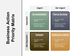 Business Action Priority Matrix Ppt PowerPoint Presentation Pictures Designs
