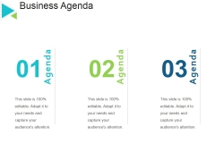 Business Agenda Template 2 Ppt PowerPoint Presentation Layouts Guidelines