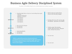 Business Agile Delivery Disciplined System Ppt PowerPoint Presentation Slide PDF