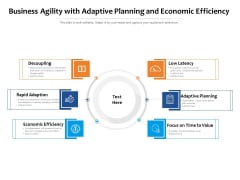 Business Agility With Adaptive Planning And Economic Efficiency Ppt PowerPoint Presentation Infographic Template Example PDF