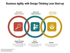 Business Agility With Design Thinking Lean Start-Up Ppt PowerPoint Presentation Portfolio Icons PDF