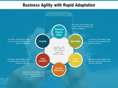 Business Agility With Rapid Adaptation Ppt PowerPoint Presentation Slides Slideshow PDF