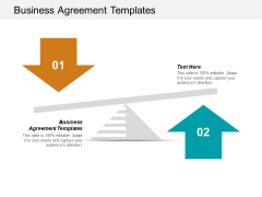 Business Agreement Templates Ppt PowerPoint Presentation Ideas Clipart Images Cpb