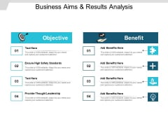 Business Aims And Results Analysis Ppt PowerPoint Presentation Gallery Format
