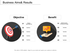 Business Aims And Results Ppt PowerPoint Presentation Portfolio Show