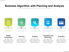 Business Algorithm With Planning And Analysis Ppt PowerPoint Presentation File Portfolio PDF
