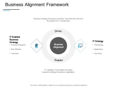 Business Alignment Framework Ppt PowerPoint Presentation Show Icon
