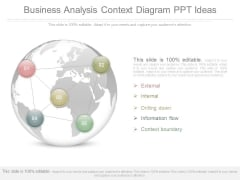 Business Analysis Context Diagram Ppt Ideas