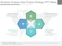 Business Analysis New Product Strategy Ppt Slides
