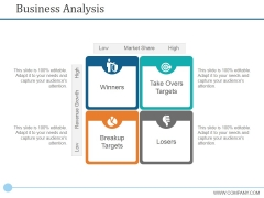 Business Analysis Ppt PowerPoint Presentation Pictures Vector