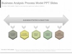 Business Analysis Process Model Ppt Slides