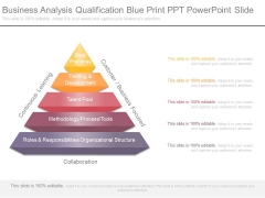 Business Analysis Qualification Blue Print Ppt Powerpoint Slide