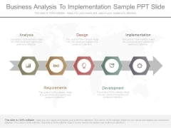 Business Analysis To Implementation Sample Ppt Slide