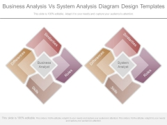 Business Analysis Vs System Analysis Diagram Design Templates