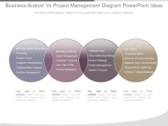 Business Analyst Vs Project Management Diagram Powerpoint Ideas