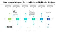Business Analytics And Statistical Science Six Months Roadmap Designs