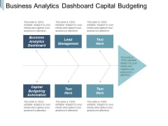 Business Analytics Dashboard Capital Budgeting Automation Lead Management Ppt PowerPoint Presentation Influencers