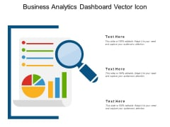 Business Analytics Dashboard Vector Icon Ppt PowerPoint Presentation File Templates PDF