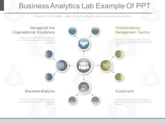 Business Analytics Lab Example Of Ppt