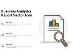 Business Analytics Report Vector Icon Ppt PowerPoint Presentation Icon Infographic Template PDF