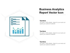 Business Analytics Report Vector Icon Ppt PowerPoint Presentation Layouts Introduction