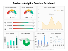 Business Analytics Solution Dashboard Ppt PowerPoint Presentation File Clipart PDF