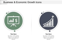 Business And Economic Growth Icons Ppt Powerpoint Presentation Professional Outfit