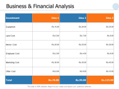 Business And Financial Analysis Ppt PowerPoint Presentation File Outline