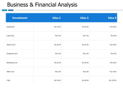 Business And Financial Analysis Ppt PowerPoint Presentation Inspiration Portrait