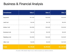 Business And Financial Analysis Ppt PowerPoint Presentation Show Skills