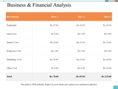 Business And Financial Analysis Ppt PowerPoint Presentation Summary Templates