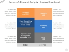 Business And Financial Analysis Required Investment Ppt PowerPoint Presentation Professional Inspiration