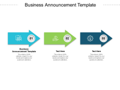 Business Announcement Template Ppt PowerPoint Presentation Summary Designs Download Cpb Pdf