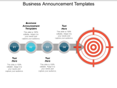 Business Announcement Templates Ppt PowerPoint Presentation File Aids Cpb
