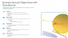 Business Annual Objectives With Time Bound Ppt Portfolio Mockup PDF