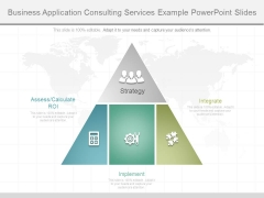Business Application Consulting Services Example Powerpoint Slides