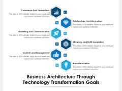 Business Architecture Through Technology Transformation Goals Ppt PowerPoint Presentation Inspiration Design Inspiration PDF