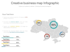 Business Area Map With Percentage Value Powerpoint Slides