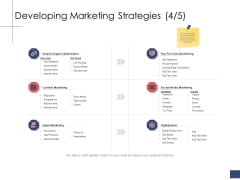 Business Assessment Outline Developing Marketing Strategies Ppt Styles Layout PDF