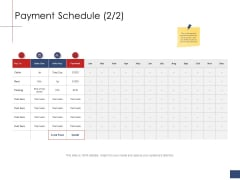 Business Assessment Outline Payment Schedule Payment Ppt Templates PDF