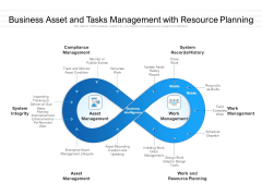 Business Asset And Tasks Management With Resource Planning Ppt PowerPoint Presentation File Example Topics PDF